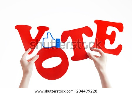 like and vote concept - stock photo