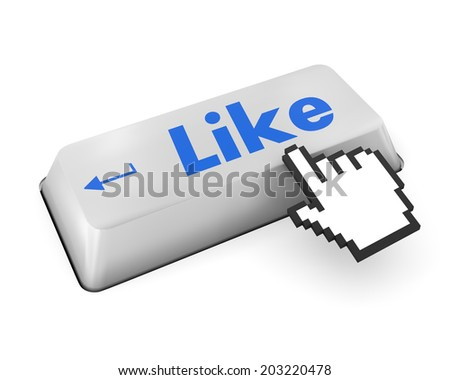 Like Button key - Stock Image thumb up