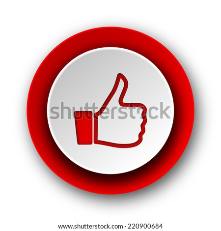like red modern web icon on white background