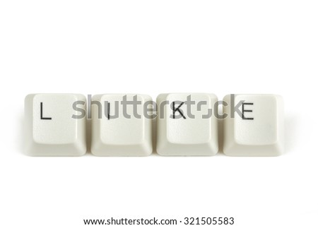 like text from scattered keyboard keys isolated on white background