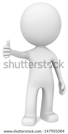 Like. The Dude giving thumb up. - stock photo
