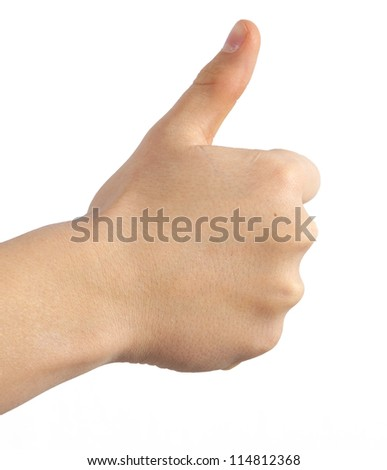 like thumbs up - stock photo