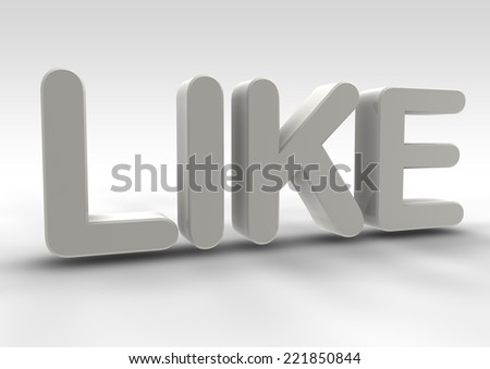 Like word 3d render on white background. - stock photo