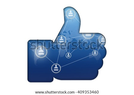 likes symbol on a white background - stock photo