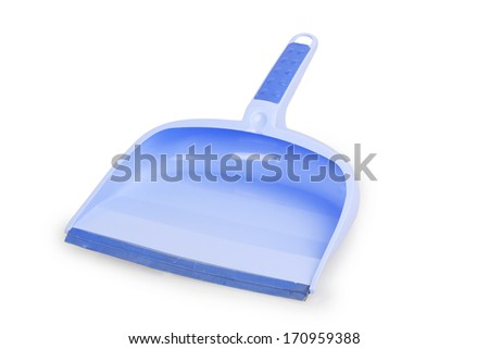 lilac dustpan isolated on white background - stock photo
