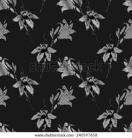 Lilies seamless pattern - stock photo