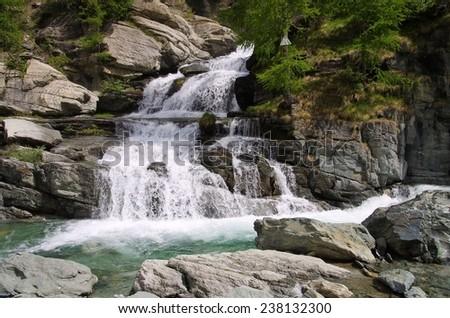 Lillaz waterfall  - stock photo