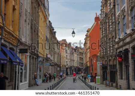 LILLE, FRANCE - CIRCA JUNE 2016: View of the city of Lille