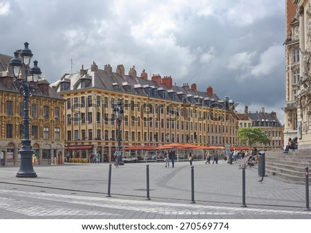 LILLE, FRANCE JULY 15, 2014: In the center of old historical city