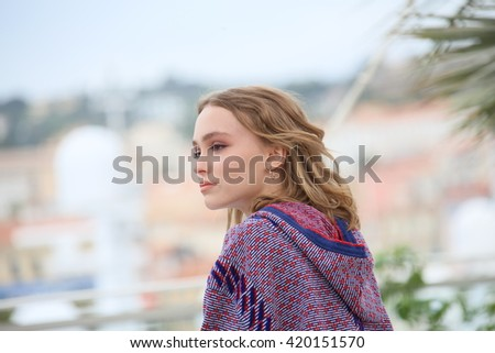 Lily-Rose Depp attends the 'The Dancer (La Danseuse)' photocall during the 69th annual Cannes Film Festival at the Palais des Festivals on May 13, 2016 in Cannes, France. - stock photo