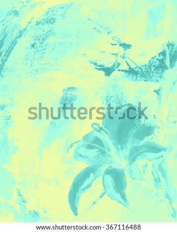 Lily up abstract background