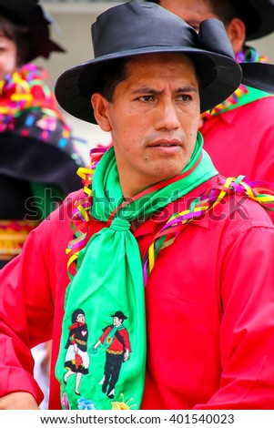 LIMA, PERU-JANUARY 31: Unidentified man performs during Festival of the Virgin de la Candelaria on January 31,2015 in Lima, Peru. Core of the festival is dancing performed by different dance schools