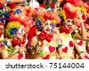LIMASSOL, CYPRUS - MARCH 6: Participants from Clown's Theme Group during the Carnival Parade on March 6, 2011 in Limassol, Cyprus. - stock photo