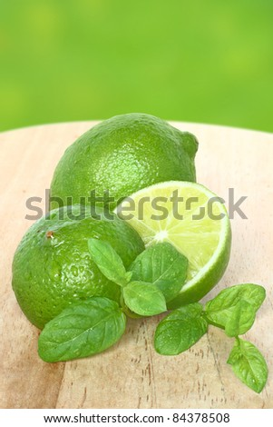 Lime and mint closeup.