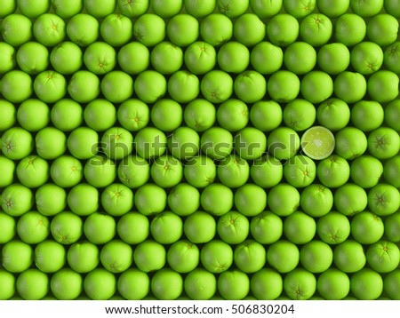 Lime background. 3D illustration. High quality