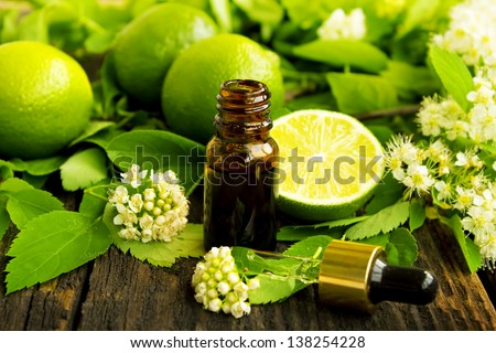 Lime essence - stock photo
