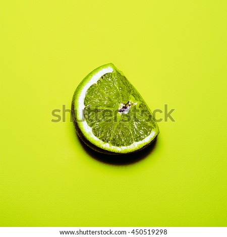 Lime Fresh. Minimalism fashion art.