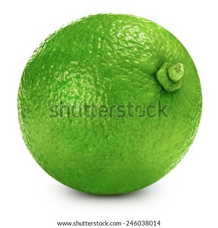 lime fruit isolated closeup  - stock photo