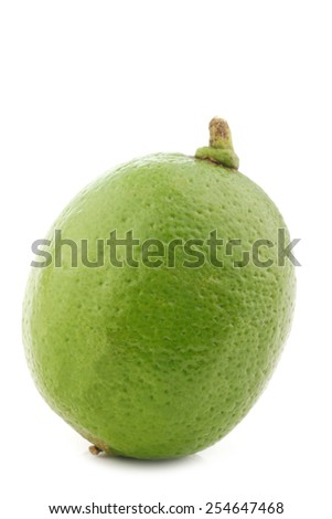 lime fruit on a white background - stock photo