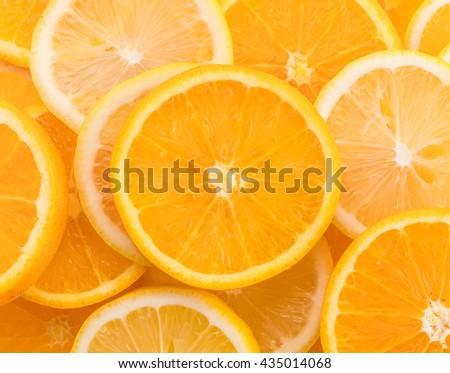 lime, lemon and orange slices - stock photo