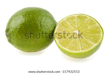 lime on a white background. picture from series.