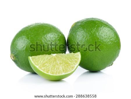 lime on white background - stock photo