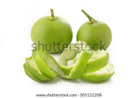 lime peel - stock photo