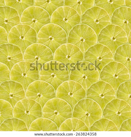 Lime Slice Abstract Seamless Pattern - stock photo