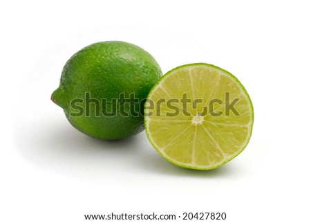 Lime studio isolated on white background