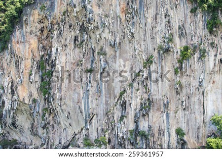limestone cliffs background.