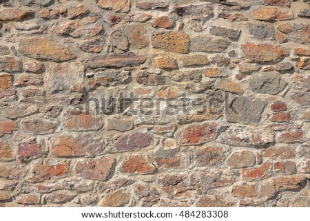 Limestone wall Texture background from an Castle