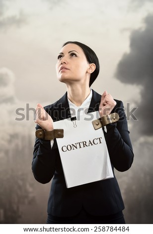 Limited by contract, concept - stock photo