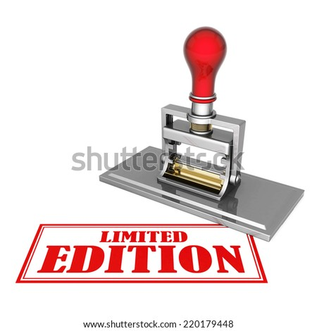 limited edition beautiful stamp isolated on white background - stock photo