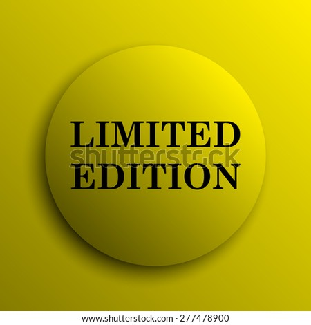 Limited edition icon. Yellow internet button.  - stock photo