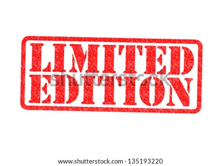 LIMITED EDITION Rubber Stamp over a white background. - stock photo