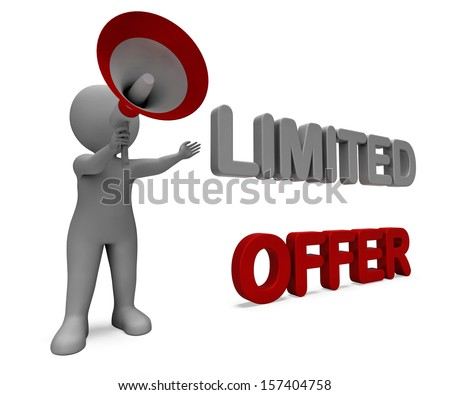 Limited Offer Character Showing Deadline Offers Or Product Promotional
