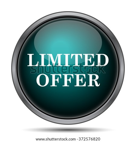 Limited offer icon. Internet button on white background.  - stock photo