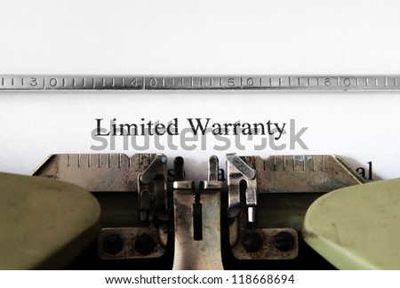 Limited warranty form - stock photo