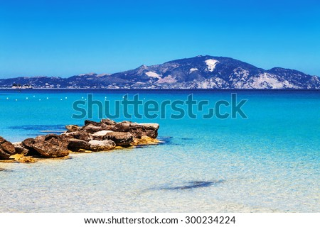 Limni Keriou beach, Zakynthos island, Greece - stock photo