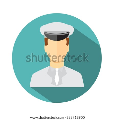 Limo driver. Limousine driver icon. Flat style. Vector illustration - stock photo