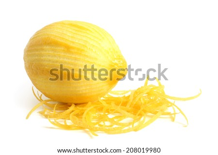 Limon with rind on white background  - stock photo