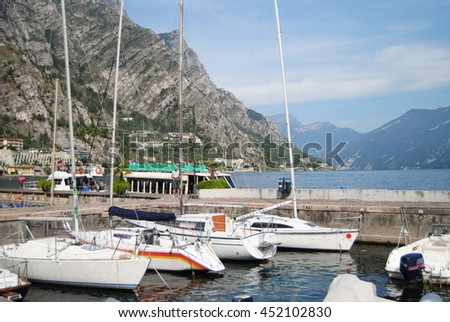 Limone sul Garda at Lake Garda, Northern Italy