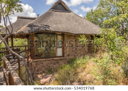 Limpopo South Africa 25 March 2016 The Makweti Private Lodge is luxurious accommodation located in the Welgevonden Game Reserve  in the Waterberg Mountains