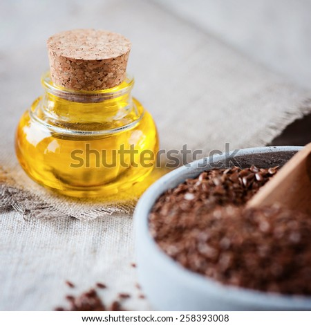 lin seed - stock photo