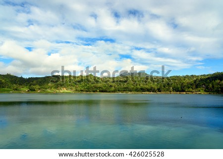 Linau lake in Tomohon. North Sulawesi. Indonesia