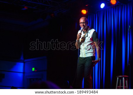 LINCOLN, CA - April 26: Comedian Daniel Dugar opens for Tracy Morgan at  Thunder Valley Casino Resort in Lincoln, California on April 26, 2014 - stock photo