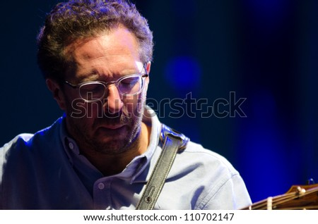 LINCOLN, CA - AUG 18: Anthony Wilson performs with Diana Krall  at Thunder Valley Casino Resort in Lincoln, California on August 18, 2012