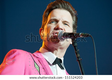 LINCOLN, CA - AUGUST 16: Chris Isaak performs at Thunder Valley Casino Resort on August 16 in Lincoln, California.