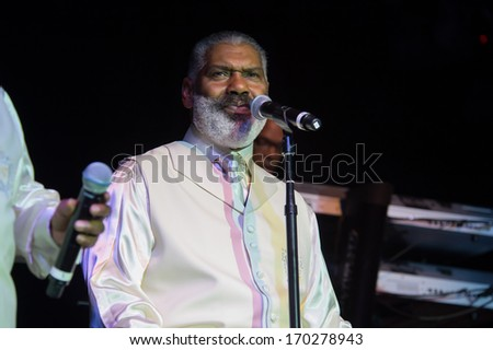 LINCOLN, CA - December 28: Nicholas Caldwell of The Whispers perform in support of Holiday Jam 2013 at Thunder Valley Casino Resort in Lincoln, California on December 28, 2013