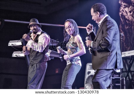 LINCOLN, CA - FEB 15: Club Nouveau performs at V101's Valentines bash featuring The Bar-Kays and ZAPP at Thunder Valley Casino Resort in Lincoln, California on February 15, 2013